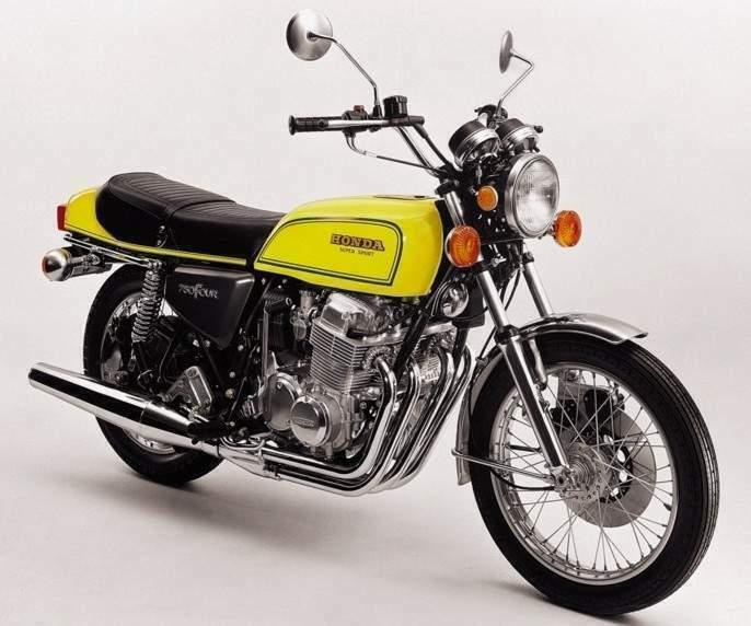 1976 Honda 750F yellow honda 750 buyer's guide by honda 750 expert  at n-0.co