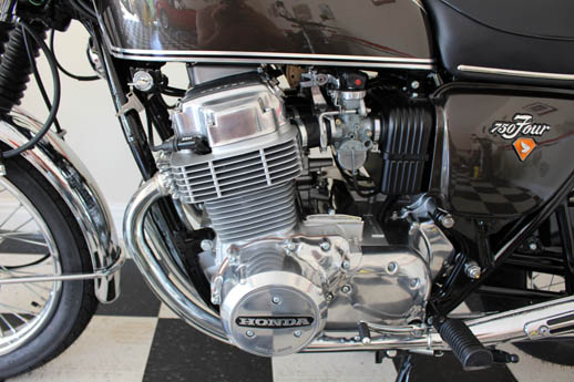 engine Honda 750 1972 brown