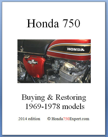 Book for buying and restoring Honda 750 1969-1978