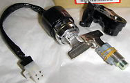 Honda 750 ignition switch with matching fork lock and seat lock