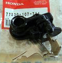 honda 750 seat latch with label 72-76