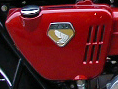 side cover and emblem red Honda 750 1969-1970